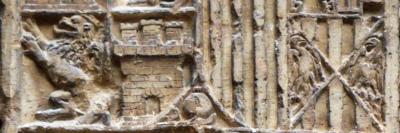 Història de Catalunya. Detall armes Felip I als Reials Col·legis de Tortosa