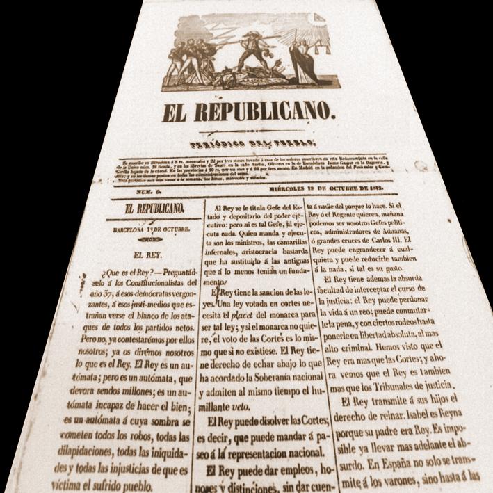 Historia de Catalunya. Monturiol. ElRepublicano 19 d'octubre de 1842
