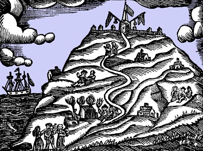 Històia de Catalunya. Gravat Montjuïc s.XVIII