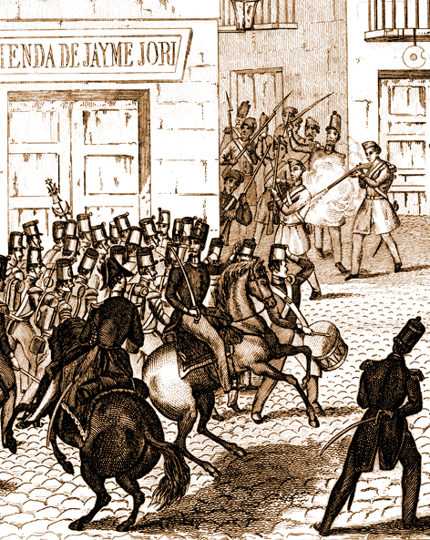 Història de Catalunya. Revolucio 1842, combats 15 de Novembre