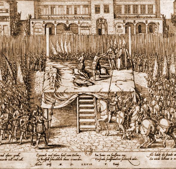 Història de Catalunya. Decapitació Egmont i Horn, Flandes